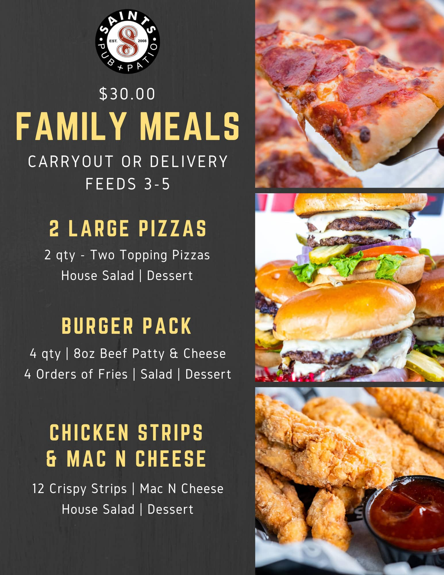carry out meals